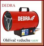 Ohřívač vzduchu DED9941 plynový 16,5kW DEDRA