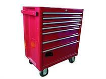 Montážní vozík TRIUMF Profi, 7 zásuvek, červený, prázdný