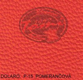 Koženka DOLARO P-15 oranžová, pomerančová