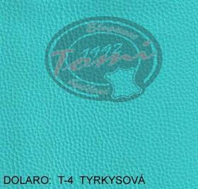 Koženka DOLARO T-4 modrá, tyrkysová