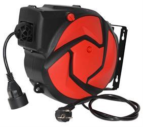 Automatický kabelový naviják / buben s el. kabelem 14 m a 1 zásuvkou