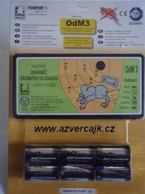 OdM3B - Odháněč akustický OdM3B bez regulace hlasitosti, s bateriemi (6ks) v blistru