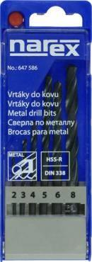 Narex sada vrtáků do kovu HSS-R 6-ti dílná