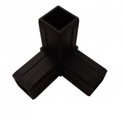 Plastová spojka 3D pro profil 40x40x2mm-černá