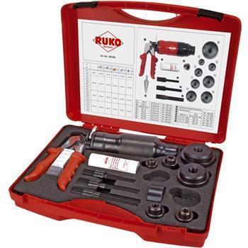 RUKO 109009 Sada děrovačů (výsečníků) s hydraulickým lisem v kufru, typ 5 hdraulická