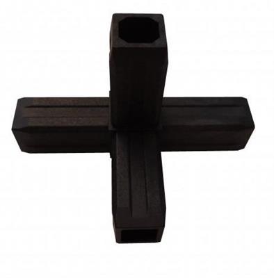 Plastová spojka 4D pro profil 30x30x2mm-černá