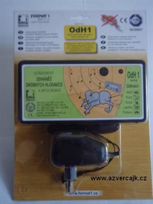 OdH1TA - Odháněč hlodavců ultrazvukový OdH1 tichý, s adaptérem v blistru