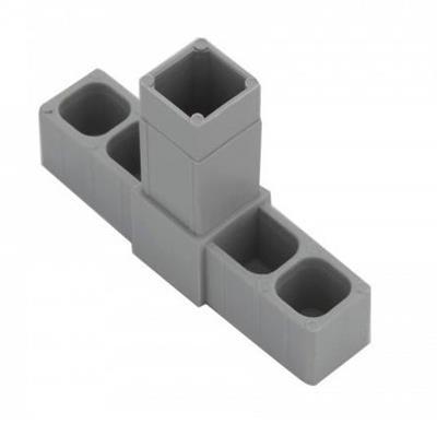 Plastová spojka T pro profil 20x20x1,5mm- šedá