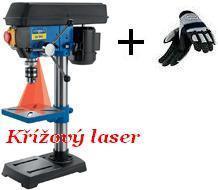 Stojanová vrtačka s křížovým laserem Scheppach DP 16 SL + RUKAVICE ZDARMA