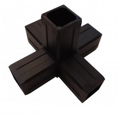 Plastová spojka 5D pro profil 40x40x2mm-černá