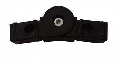 plastová spojka nastavitelná 30x30x2,0mm-černá