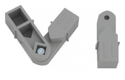 Plastová spojka úhel 45°-315° 20x20x1,5mm- šedá