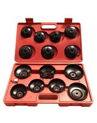 Miskovité klíče na olejové filtry, 15-dílná sada AIP4017