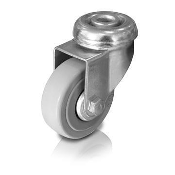 Otočné kolečko 50 mm s otvorem 10 mm, nosnost 55kg
