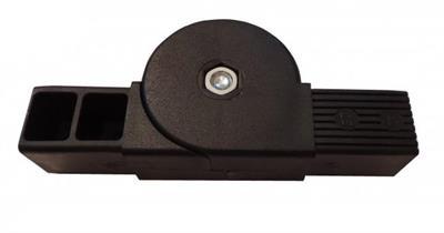 plastová spojka nastavitelná 40x40x2,0mm- černá