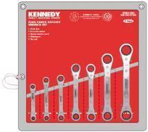 Sada klíčů očkových račnových s páčkou 7 ks, KENNEDY