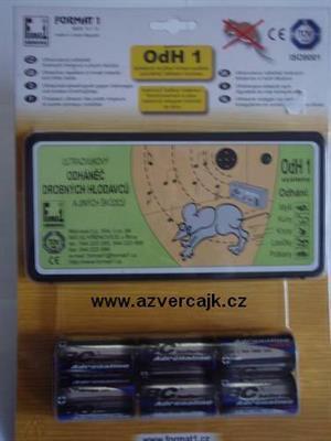OdH1SB - Odháněč hlodavců ultrazvukový OdH1 slyšitelný bateriový (6ks)