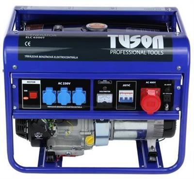 Elektrocentrála 5500W OHV, AVR, třífázová, výstup 3x220V + 1x380V - TUSON