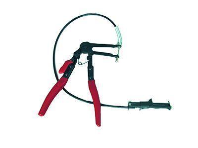 Kleště pro pásové objímky, hadicové spony, s bovdenem