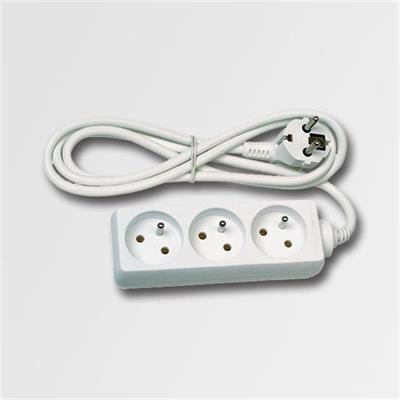 Prodlužovací kabel 3 zásuvky bílý  3m