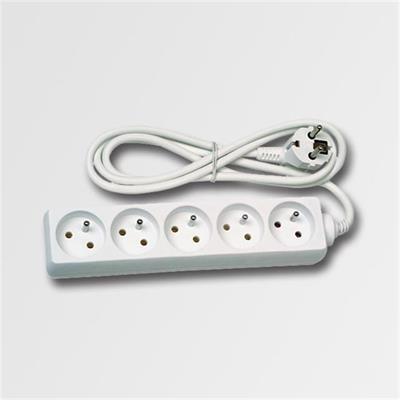 Prodlužovací kabel 5 zásuvek bílý 5m