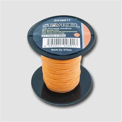 Provázek 50 m, 1 mm, oranžový