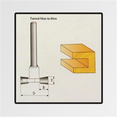 Tvarové frézy do dřeva 8x9,4mm