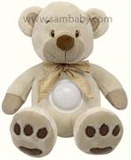 BabyMix Méďa s lampičkou 13138 krémový