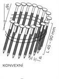 BDC hřebíky páskované ve svitku 16° konvexní (45-90mm) pro KMR 3539