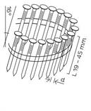 DPN hřebíky lepenkové ve svitku 16° hladké (19-25mm) pro KMR 3516