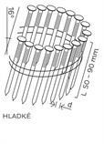BDC hřebíky páskované ve svitku 16° hladké (50-90mm) pro KMR 3539