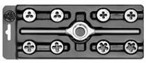Sada závitořezných nástrojů-oček typ MINI-1 HSS M3-M12