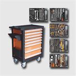 Montážní vozík na nářadí kovový vybavený 400dílů 770x460x970mm