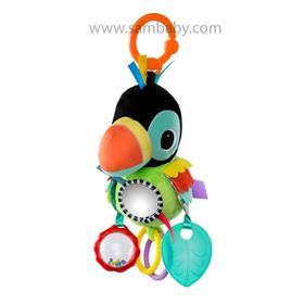 Bright Starts Hračka na C kroužku Playful Pals papoušek 0m+ Bright Starts