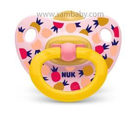NUK Dudlík Classic HAPPY KIDS žluto-růžový