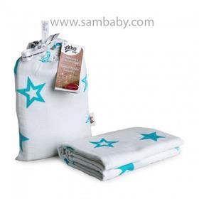 XKKO Bambusová zavinovačka ®BMB Stars - Turquoise