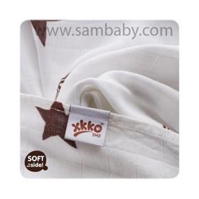 XKKO Bambusová plena/osuška ®BMB Stars 90x100 cm - Brown
