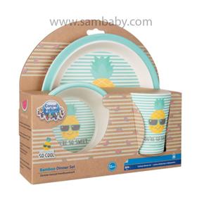 Canpol babies Bambusový set nádobí SO COOL Ananas 3 ks