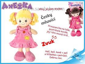 Panenka Anežka 36cm na baterie česky mluvící a zpívající