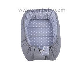 Sambaby hnízdo pro miminko šedý puntík