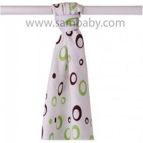 XKKO Bambusová plena/osuška ®BMB Bubbles 90x100 cm - Lime