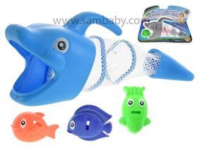 Mikro Trading Vodní hra - delfín 27cm + 3rybičky