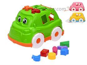 Mikro Trading Auto/vkládačka 25,5cm 2v1 geometrické tvary a zvířátka