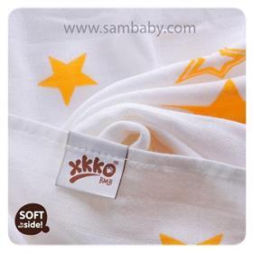 XKKO Bambusová plena/osuška ®BMB Stars 90x100 cm - Orange