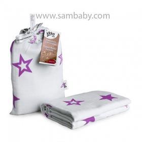 XKKO Bambusová zavinovačka ®BMB Stars - Lilac