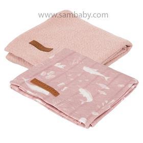 Little Dutch Pleny swaddle 70×70 ocean pink 2ks