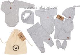 Zyzio&Zuzia komplet 8D bavlna šedý