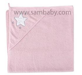 Ceba Baby dětská froté osuška 100/100cm hvězda růžová