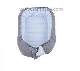 Sambaby hnízdo pro miminko šedo-modré