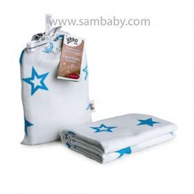 XKKO Bambusová zavinovačka ®BMB Stars - Cyan